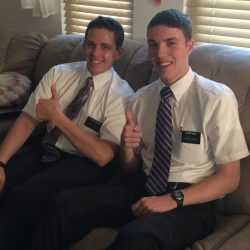 Elder Johnson and Elder Hall